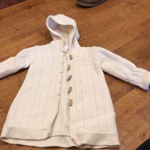 Janie and Jack cableknit wool angora sweater 3T